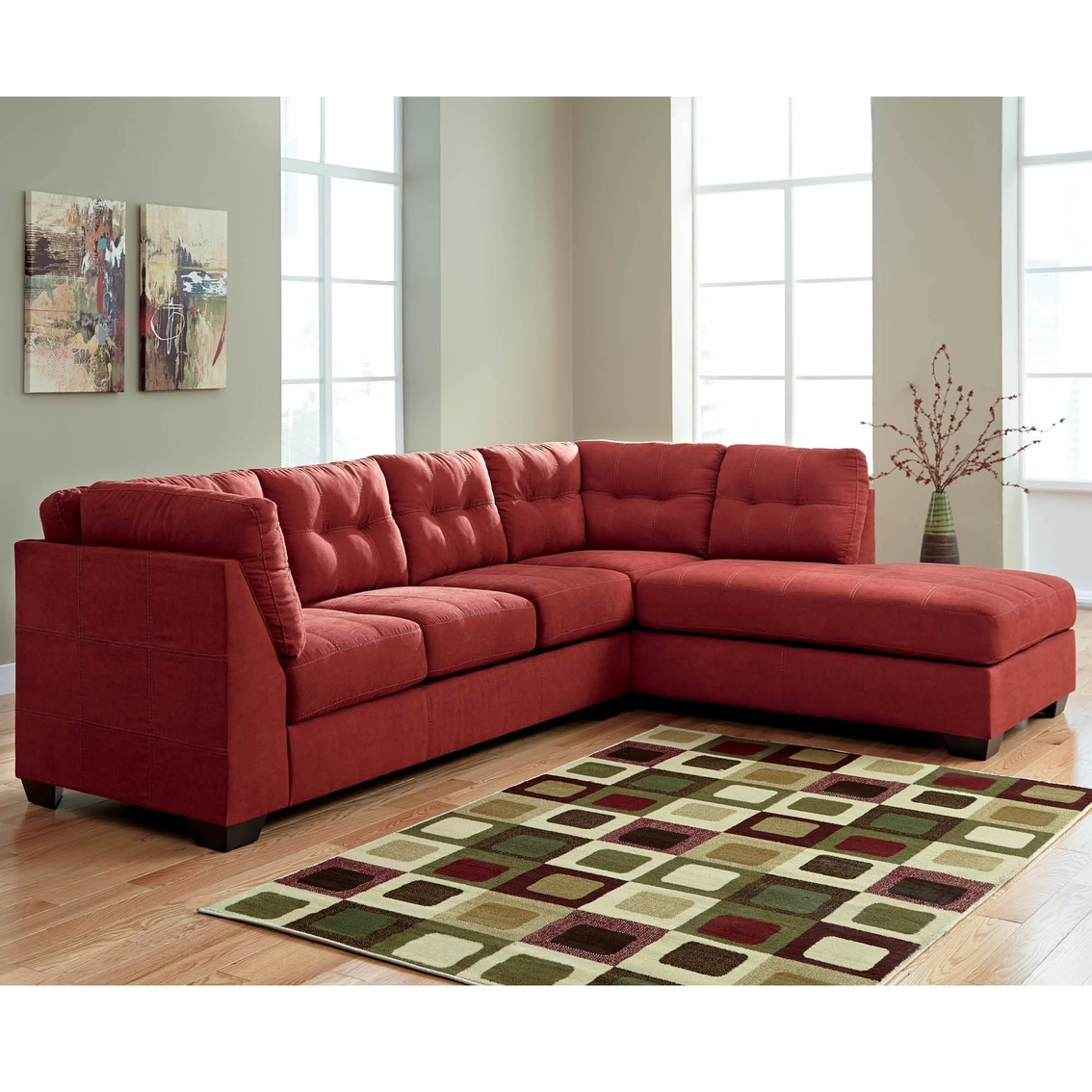 Benchcraft maier raf corner chaise and laf sofa set for Benchcraft chaise lounge