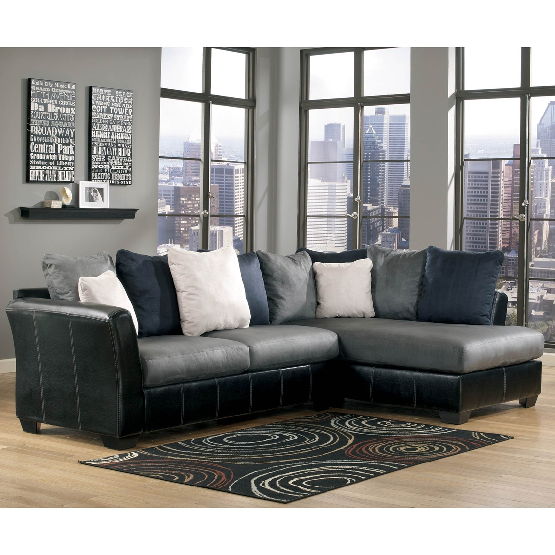 Ashley masoli 2 pc sectional laf sofa raf chaise sofas for Ashley chaise sectional