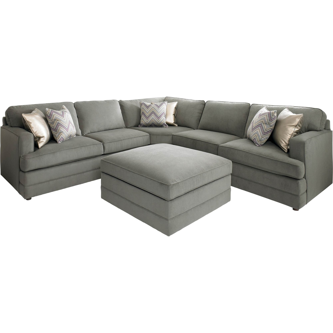 Bassett Dalton L-shaped Sectional Sofa With Ottoman : Sofas u0026 Couches : Home u0026 Appliances : Shop ...