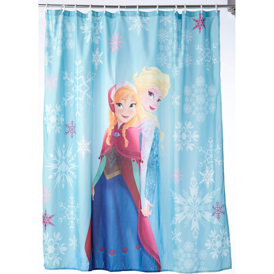 Disney frozen shower curtain shower curtains bath rugs for Curtains for young adults