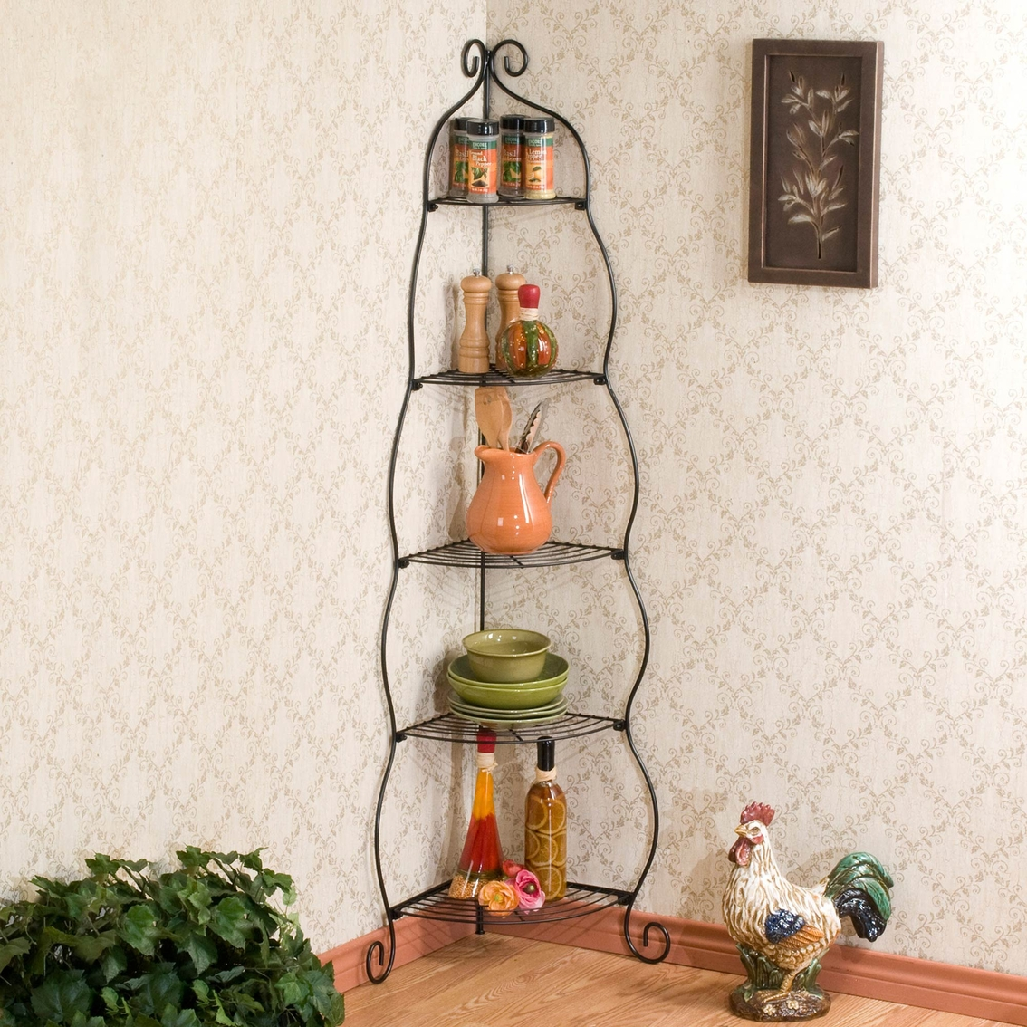 Brilliant Sei Scrolled Corner Etagere Kitchen Carts Islands Home Home Interior And Landscaping Ymoonbapapsignezvosmurscom