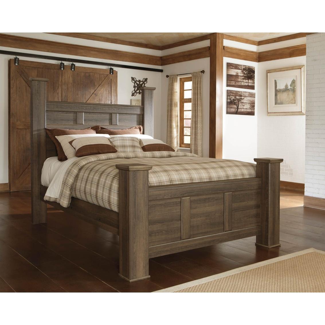 Oak Express Bedroom Sets Ashley Juararo Queen Poster Bed