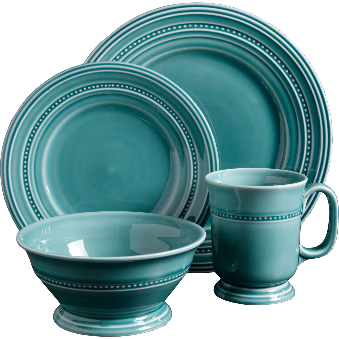 7318  sc 1 st  ShopMyExchange.com & Gibson Elite Barberware Turquoise 16 Pc. Dinnerware Set | Dinnerware ...