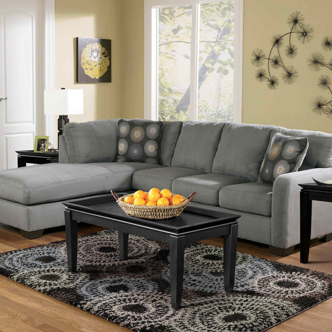 Signature design by ashley zella 2 pc sectional laf for Zella sectional sofa