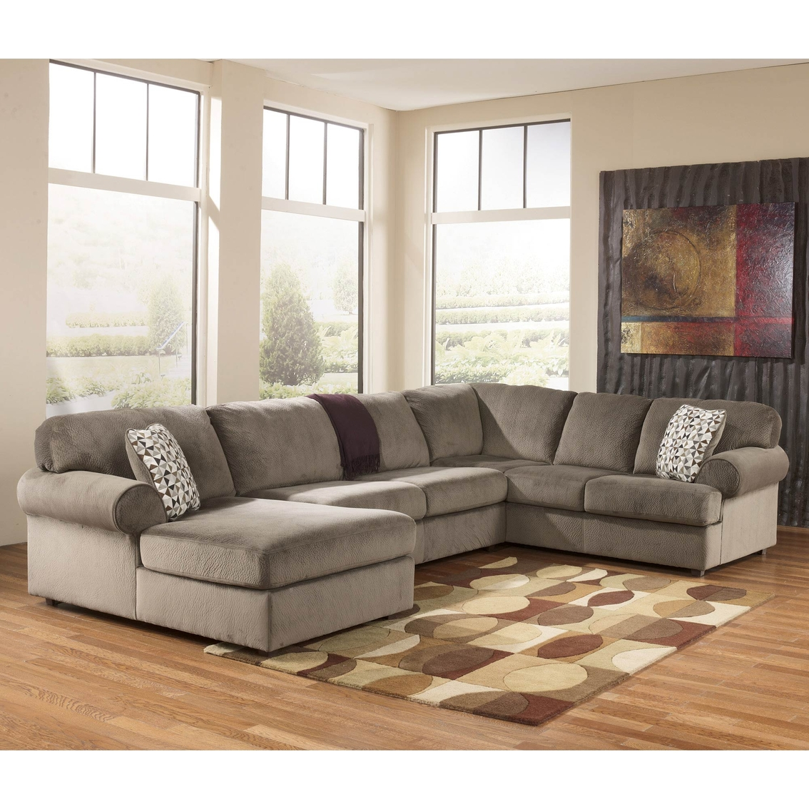 Signature Design By Ashley Jessa Place 3 Pc. Sectional Sofa ...