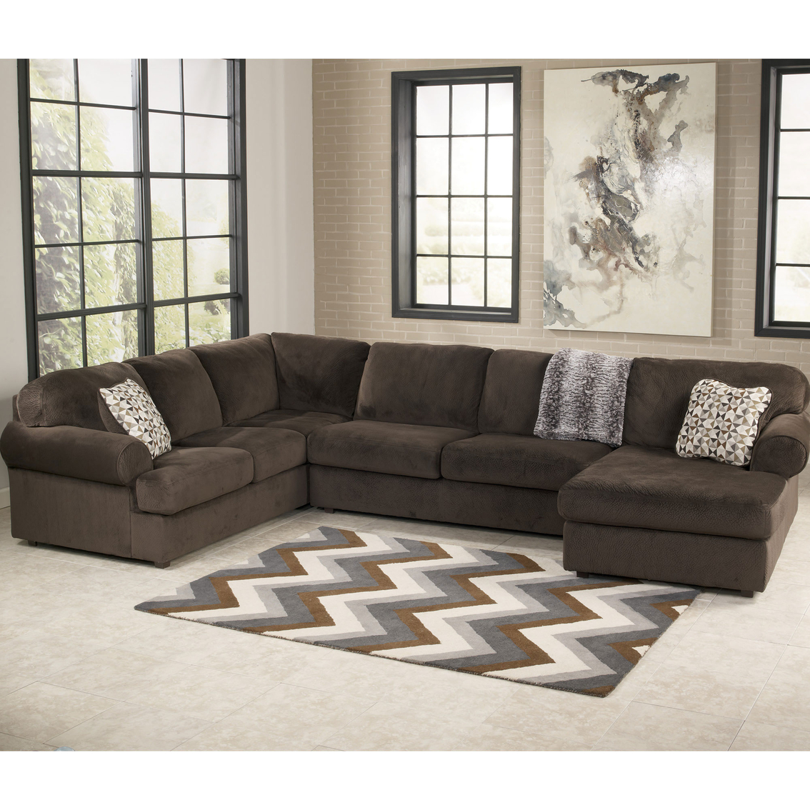 Attrayant Signature Design By Ashley Jessa Place 3 Pc. Sectional Sofa