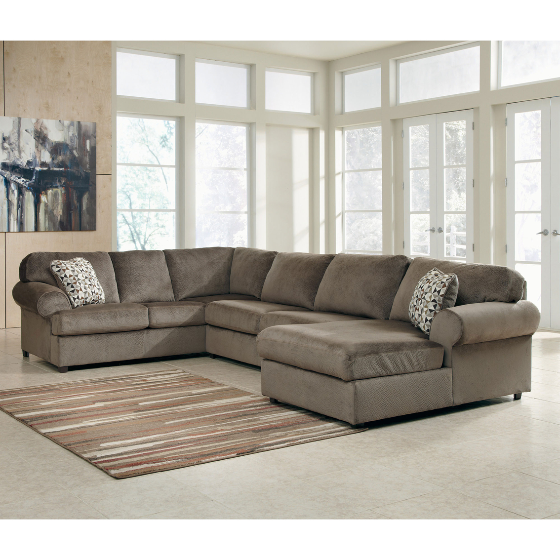 Remarkable Signature Design By Ashley Jessa Place 3 Pc Sectional Sofa Gmtry Best Dining Table And Chair Ideas Images Gmtryco
