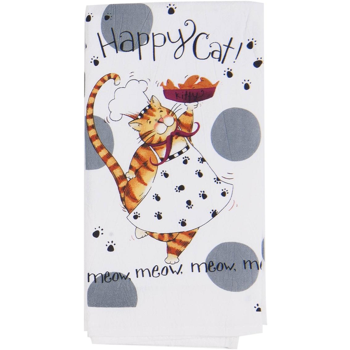 Kay Dee Designs Happy Cat Flour Sack Kitchen Towel