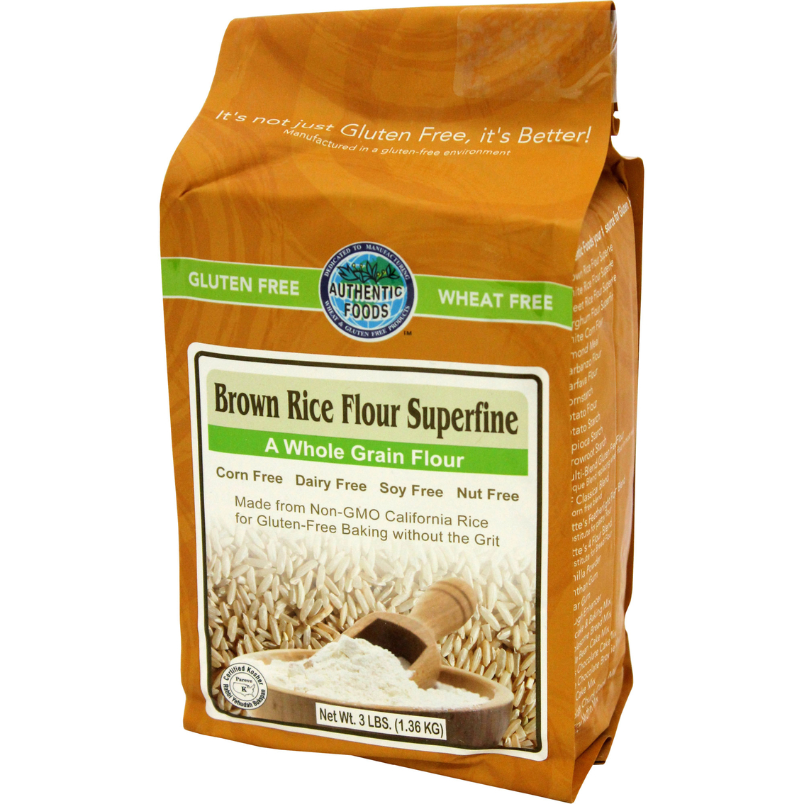 Authentic Foods Superfine Brown Rice Flour 6 Pk. | Bread