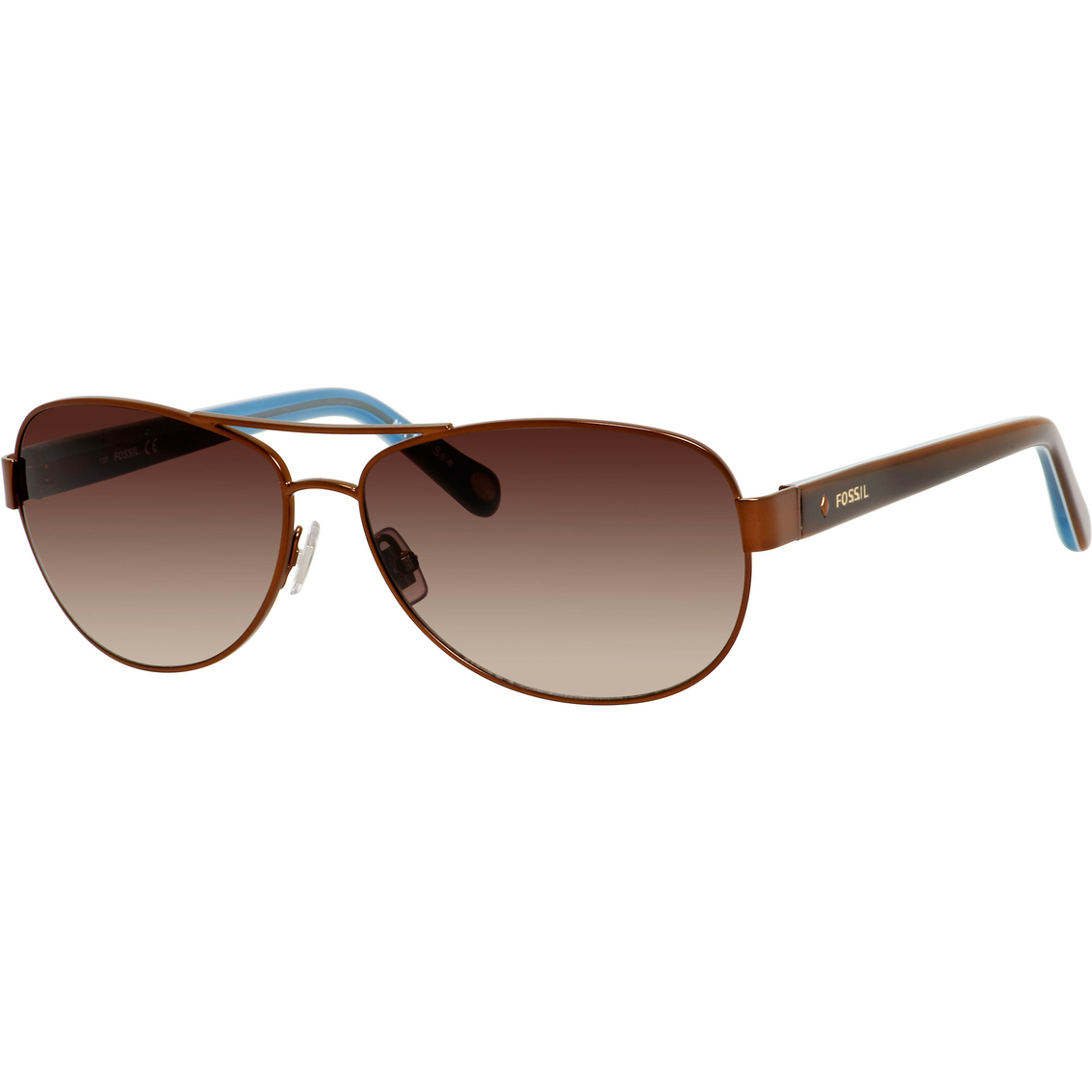 f1fa27add17f8 Fossil Jacey Metal Aviator Gradient Sunglasses 2004s