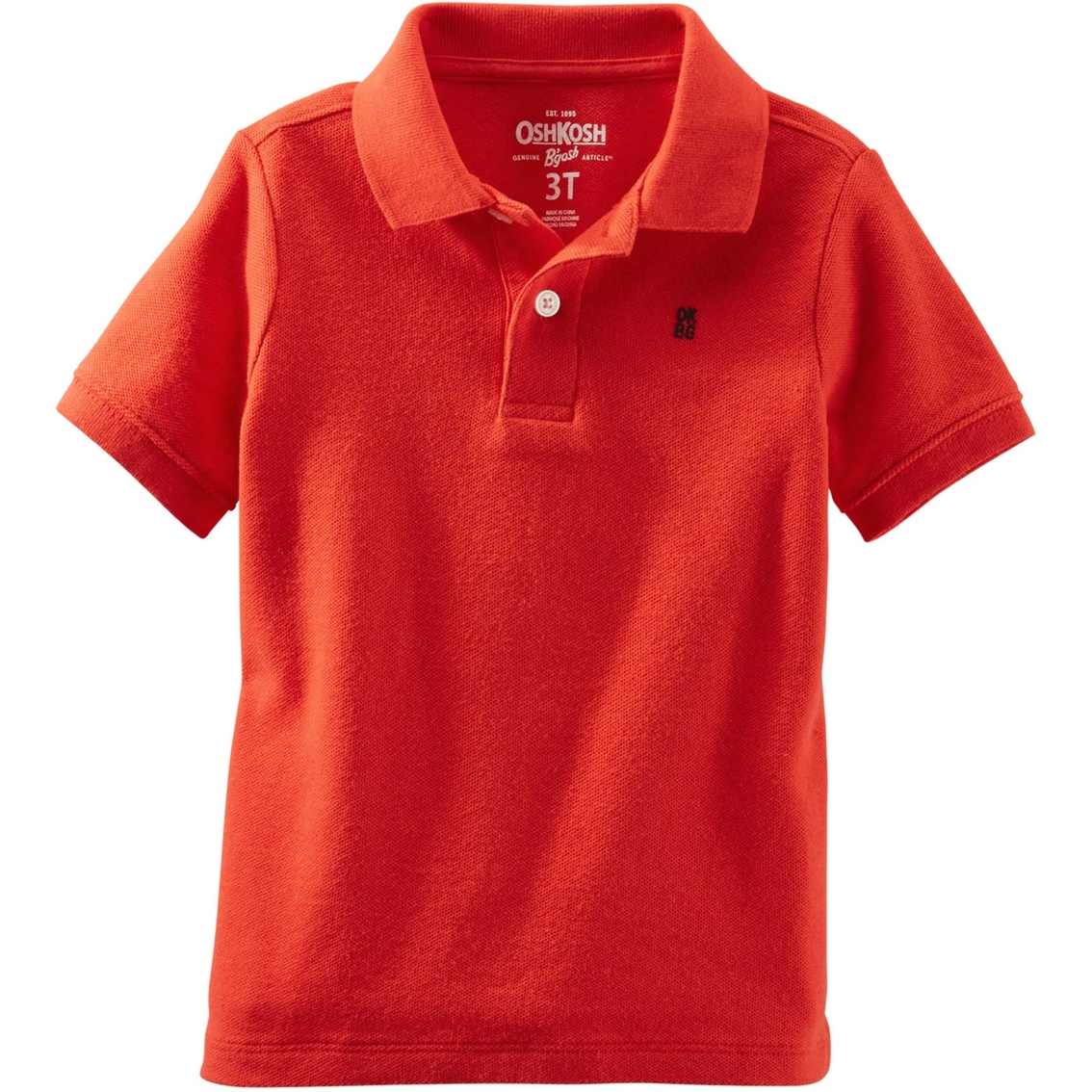 Oshkosh toddler boys jersey polo shirt shirts apparel for Toddler boys polo shirts