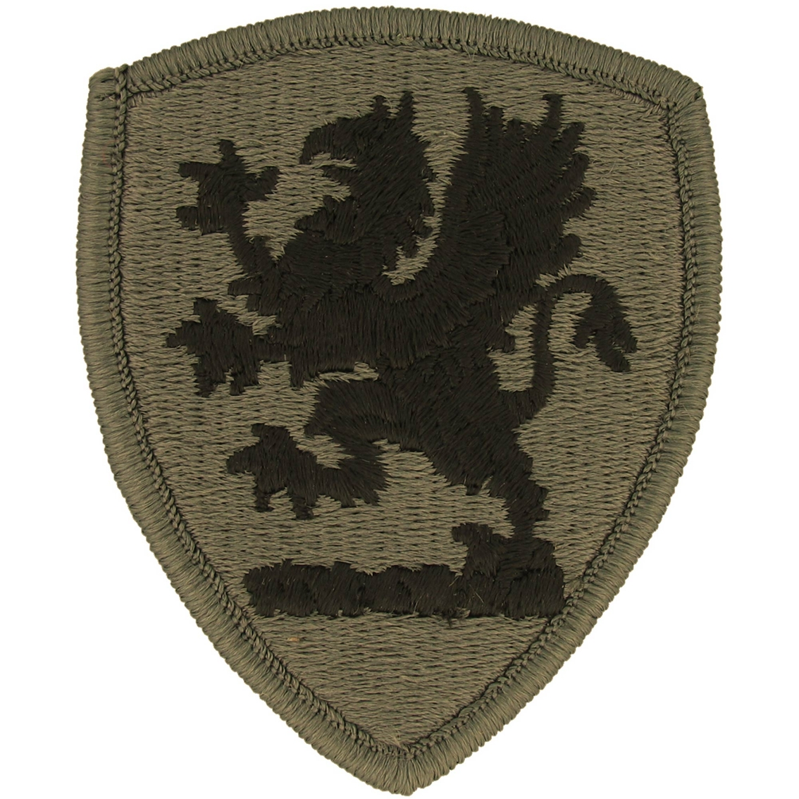 Army national guard patch placement