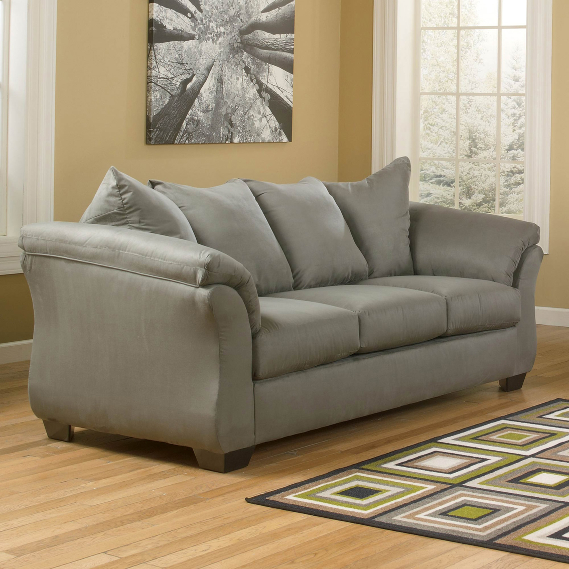 signature design by ashley darcy sofa cobblestone sofas