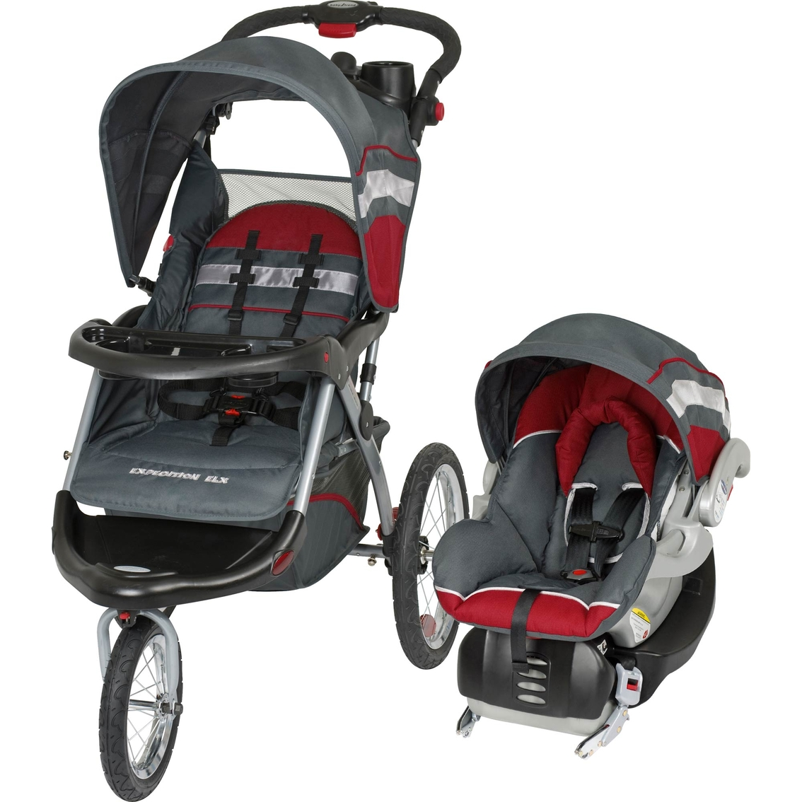 Baby Trend Expedition Elx Jogging Stroller And Car Seat 2 Pc ...