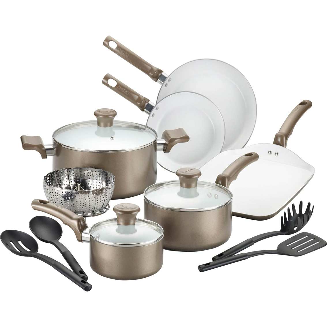 T Fal Celebrate 14 Pc Ceramic Cookware Set Non Stick