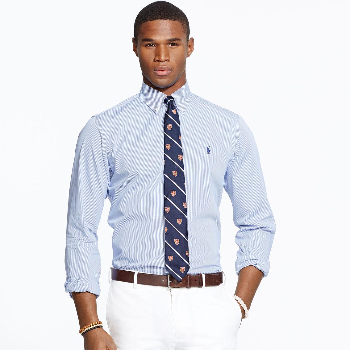 8b5d7a2357203 Polo Ralph Lauren Hairline Striped Poplin Shirt
