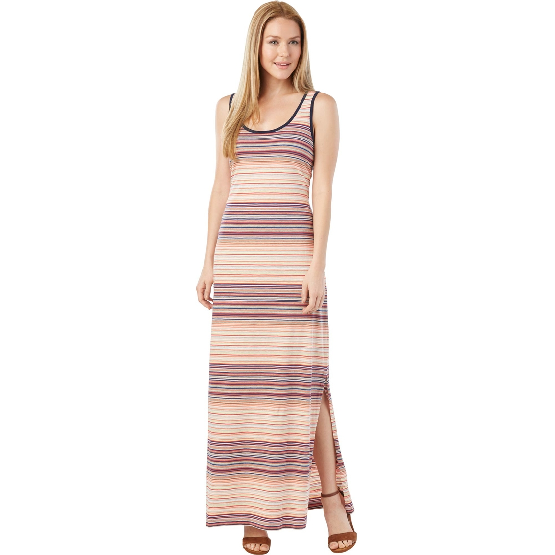 5655d83f0b8 Tommy Hilfiger Tenny Multi Feeder Stripe Maxi Dress | Dresses ...