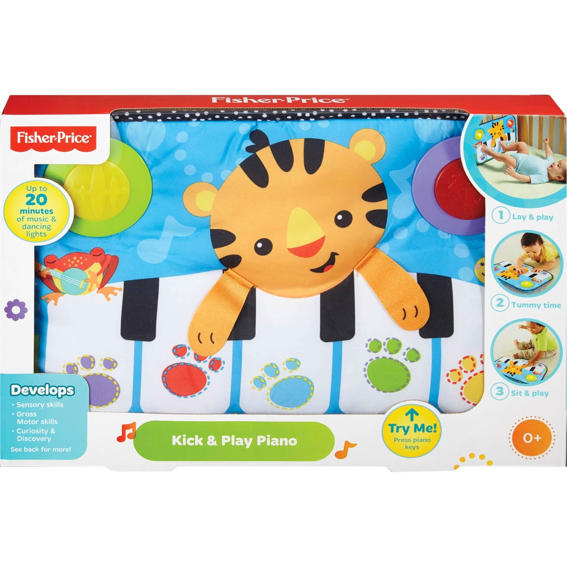 Fisher Price Luminosity Kick Play Piano For Crib Liners Bumpers