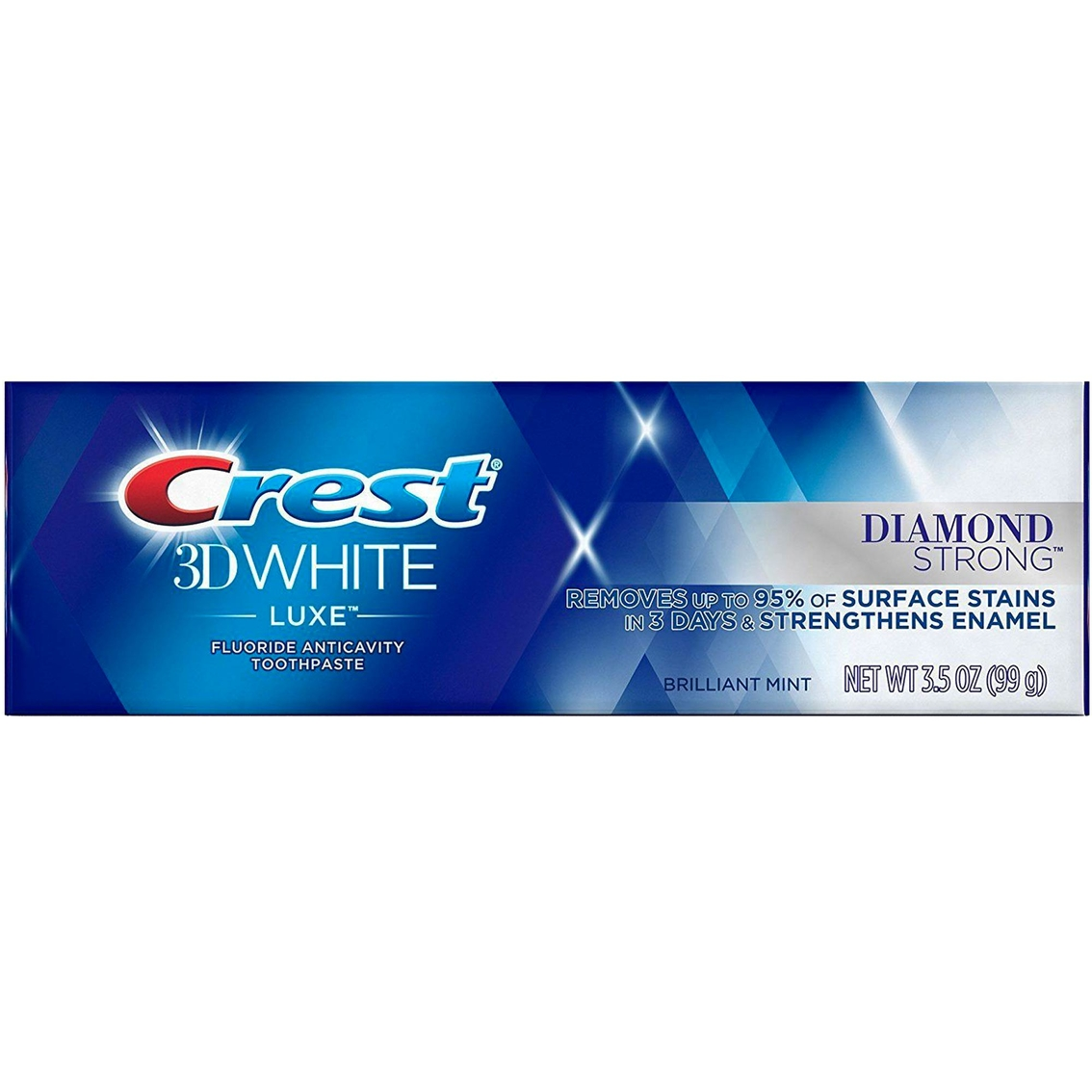 Crest 3d White Luxe Diamond Strong Teeth Whitening Toothpaste 3 5 Oz Tooth Paste Beauty Health Shop The Exchange