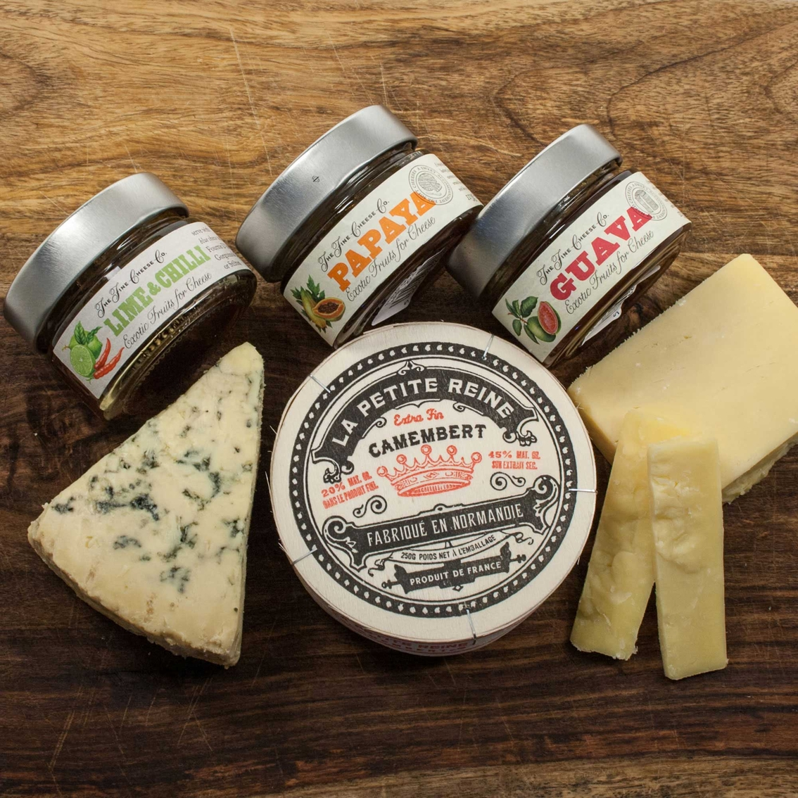 the gourmet market exotic fruit and cheese collection | cheese