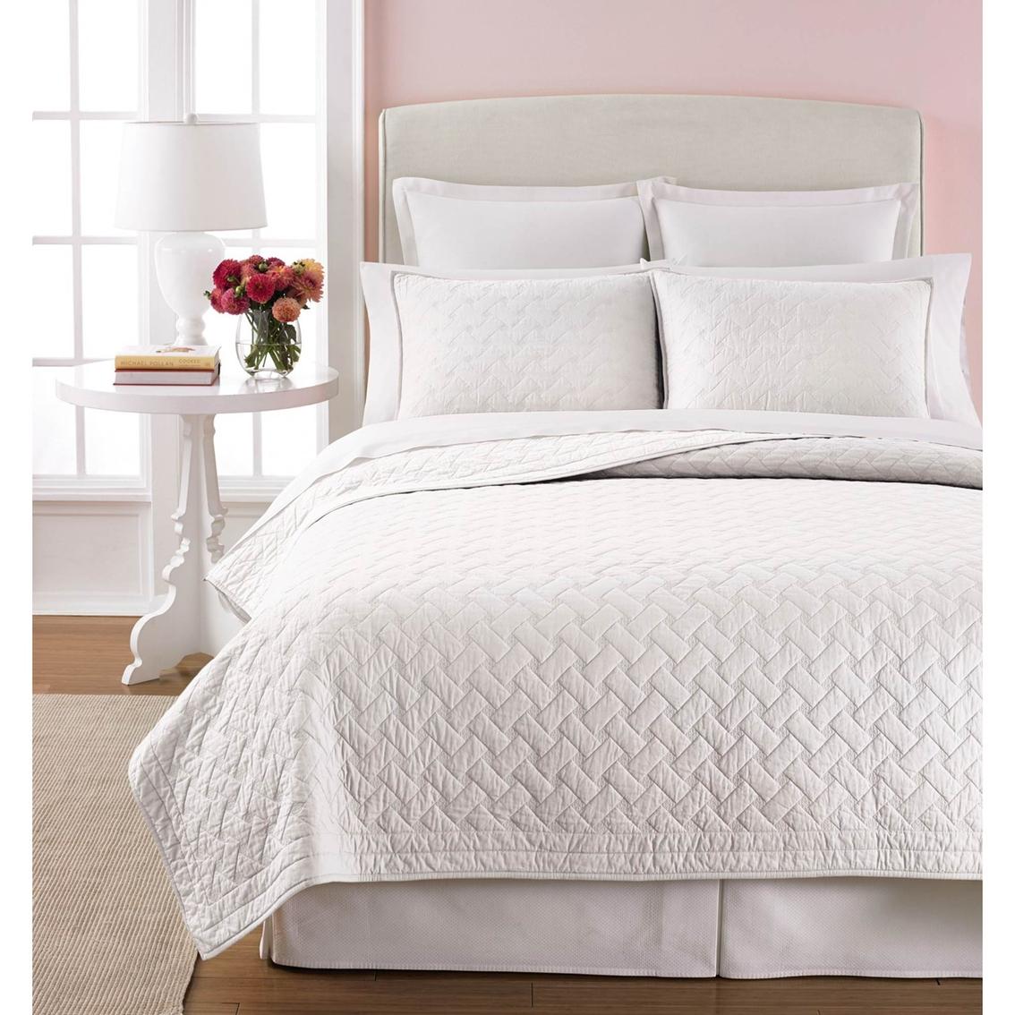 Martha Stewart Collection Basket Stitch Quilt Bedspreads