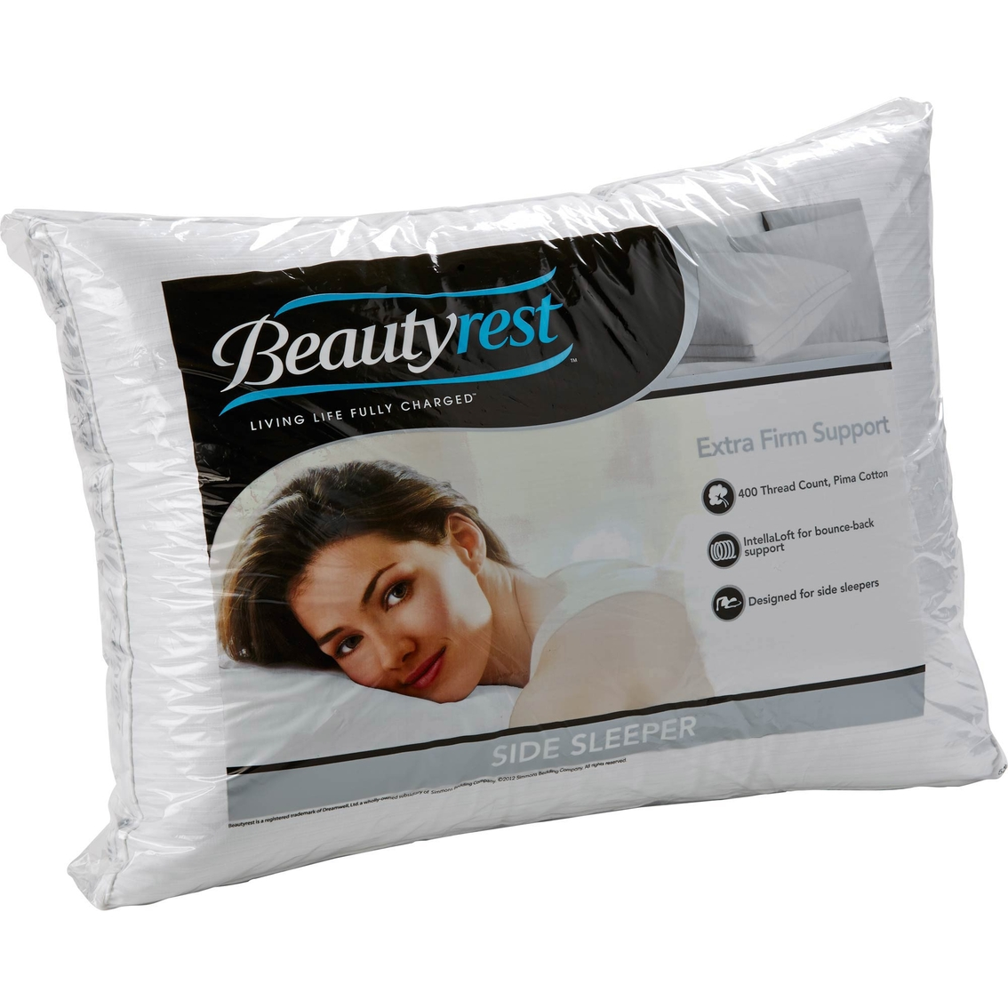 Beautyrest Extra Firm Density Side Sleeper Pillow Bed
