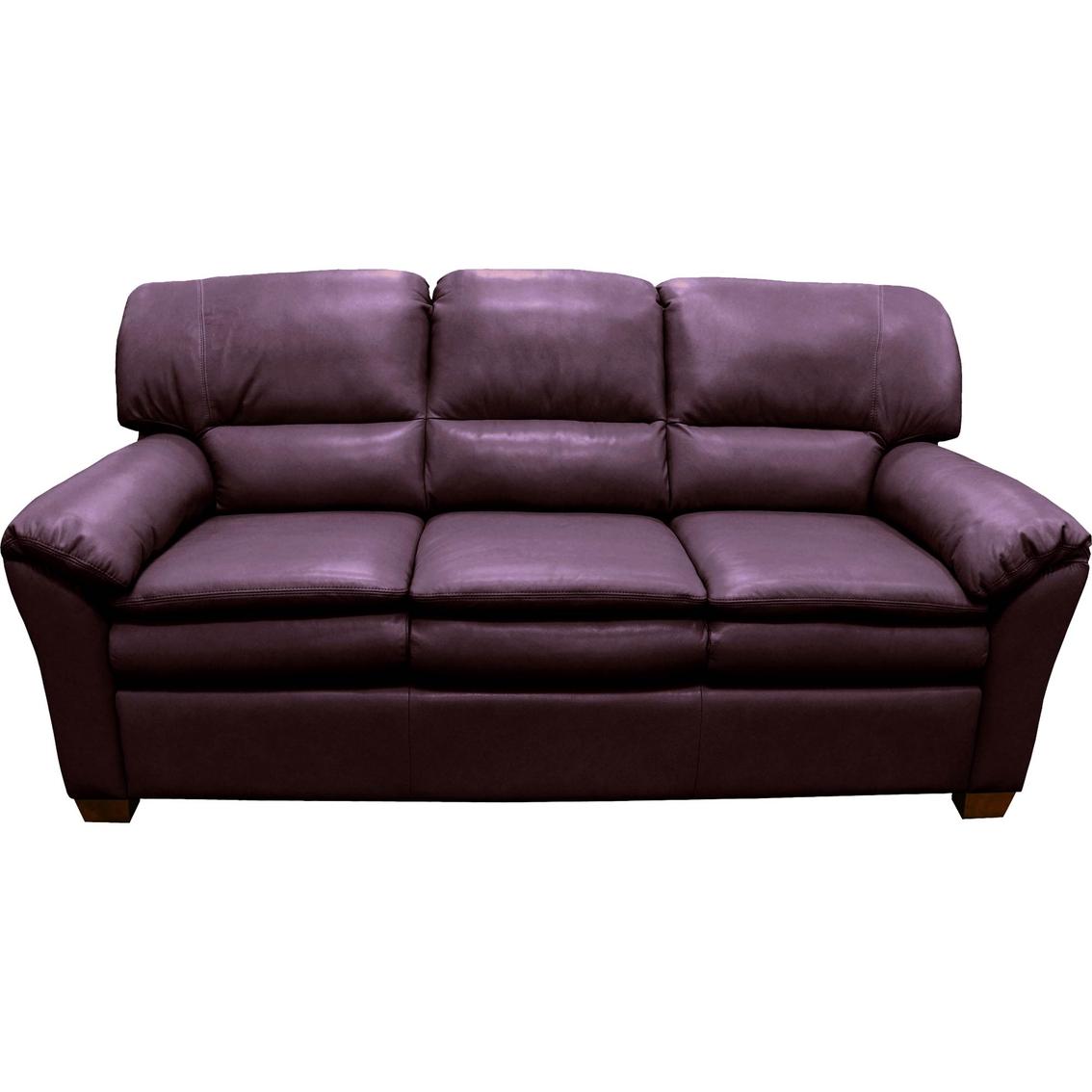 Plum Leather Sofa TheSofa