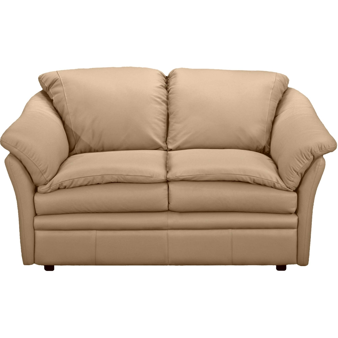 Wustrow Umber Italian Leather Power Reclining Sofa: Omnia Leather Uptown Loveseat
