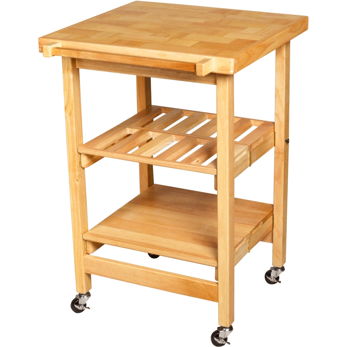 oasis concepts folding kitchen cart with stemware rack