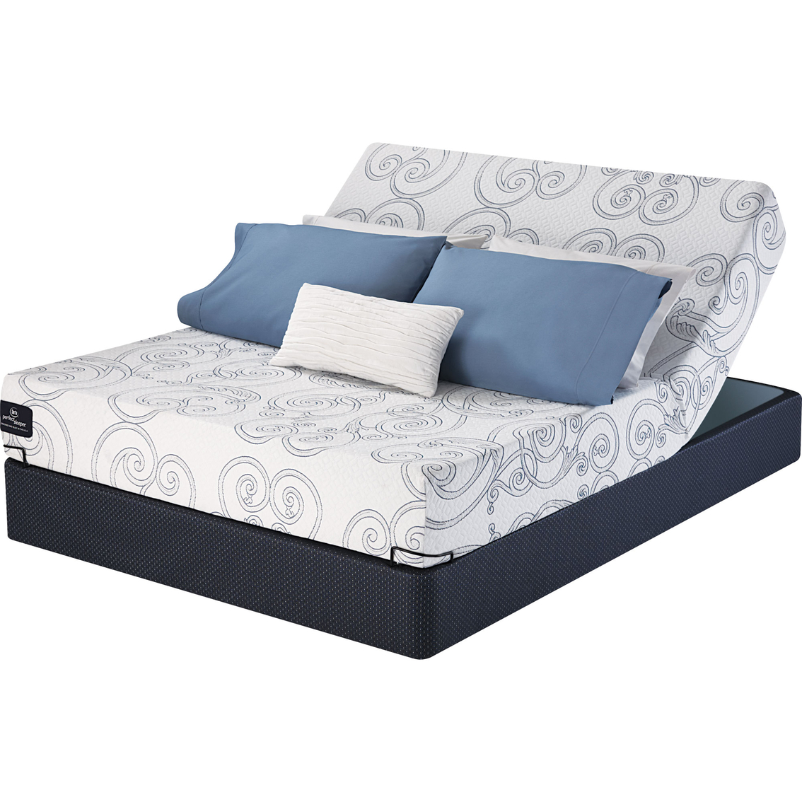 Serta perfect sleeper leadership memory foam firm mattress and adjustable base set mattresses Memory foam mattress set