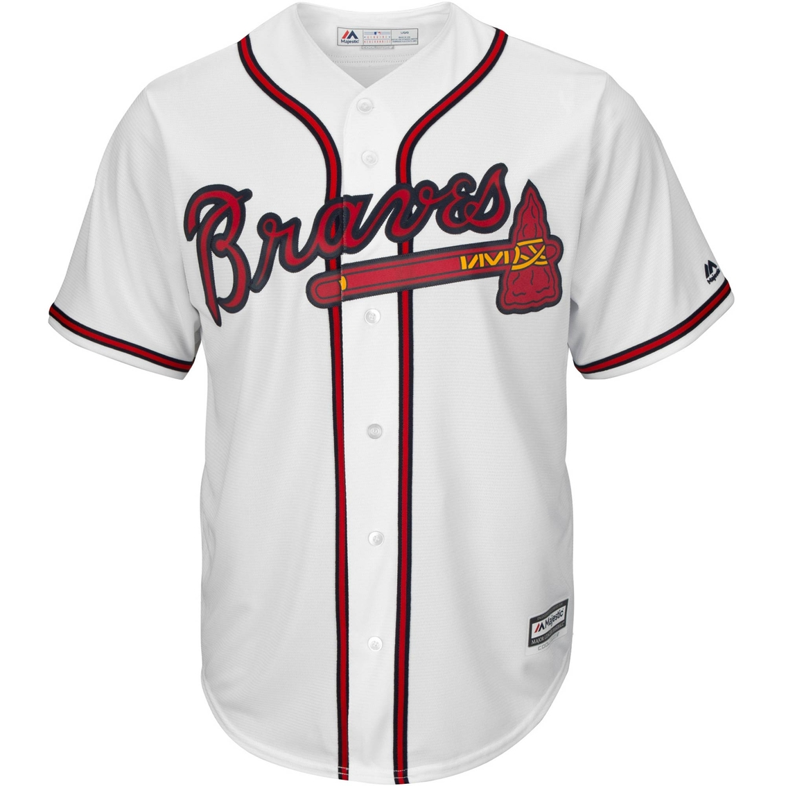 07633337c34 Majestic Mlb Atlanta Braves Men s Replica Home Jersey