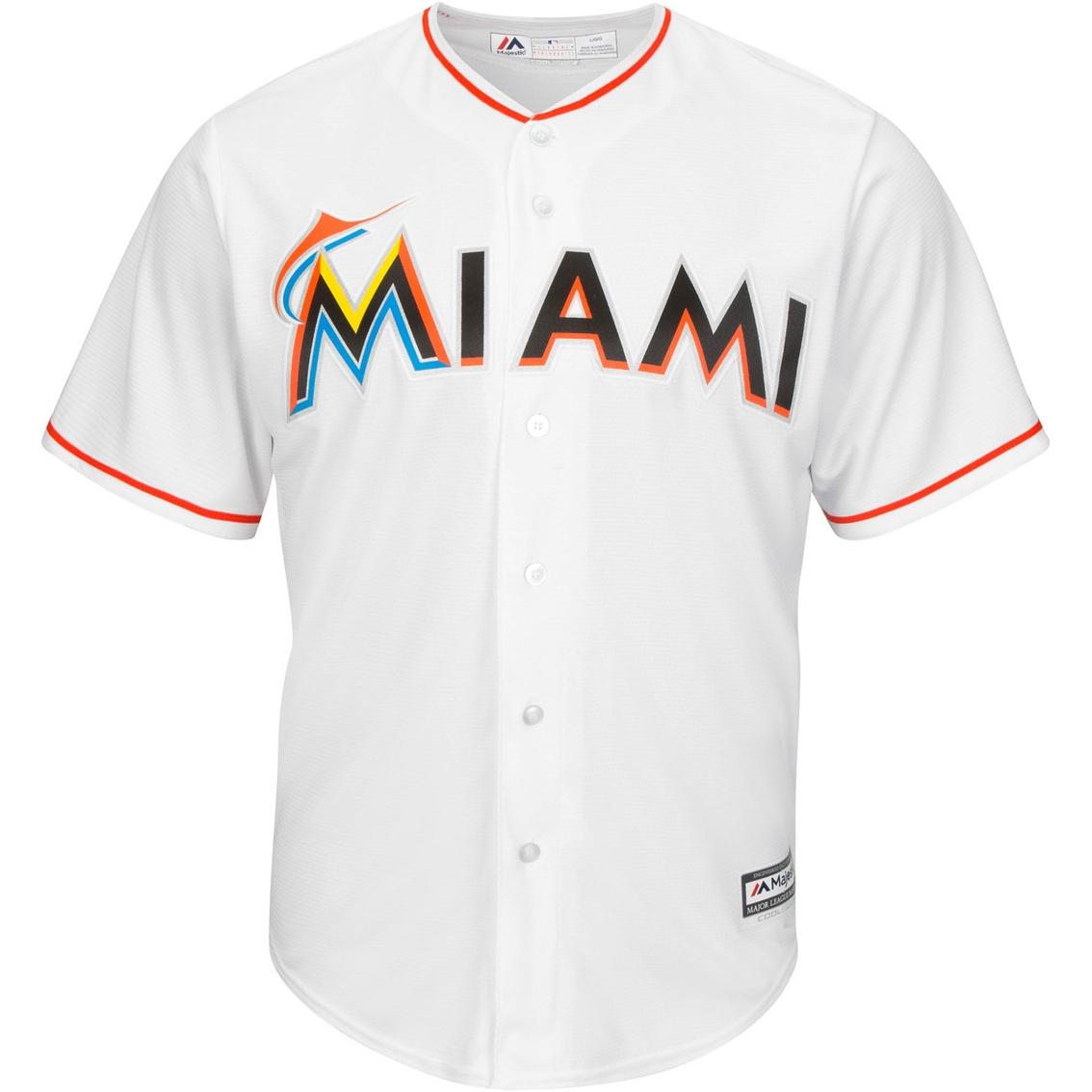 newest 85282 b49c5 Majestic Mlb Miami Marlins Home Replica Jersey   Shirts ...