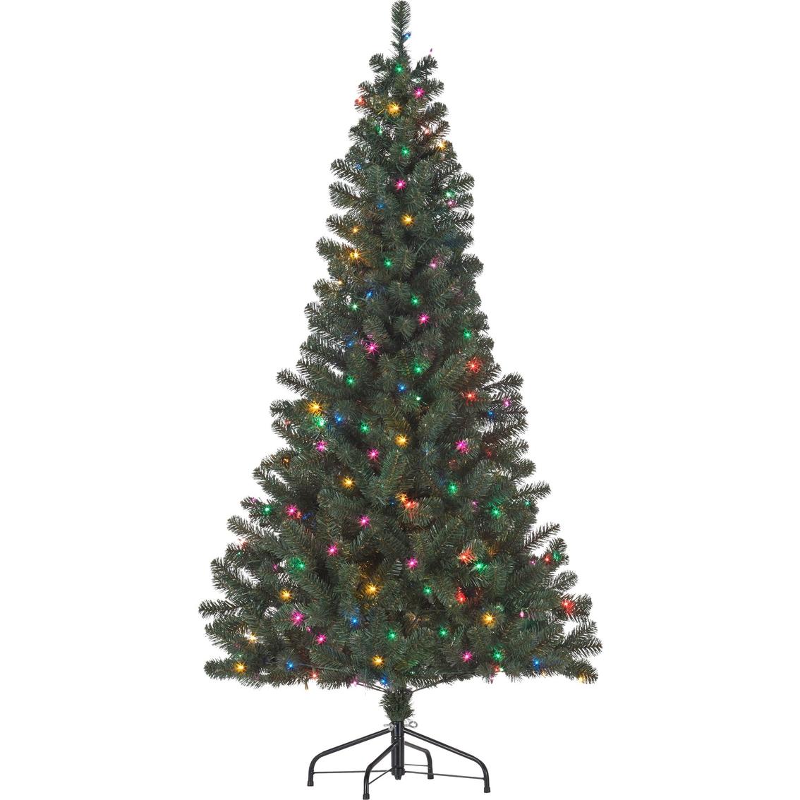 Pre Lit Narrow Artificial Christmas Trees