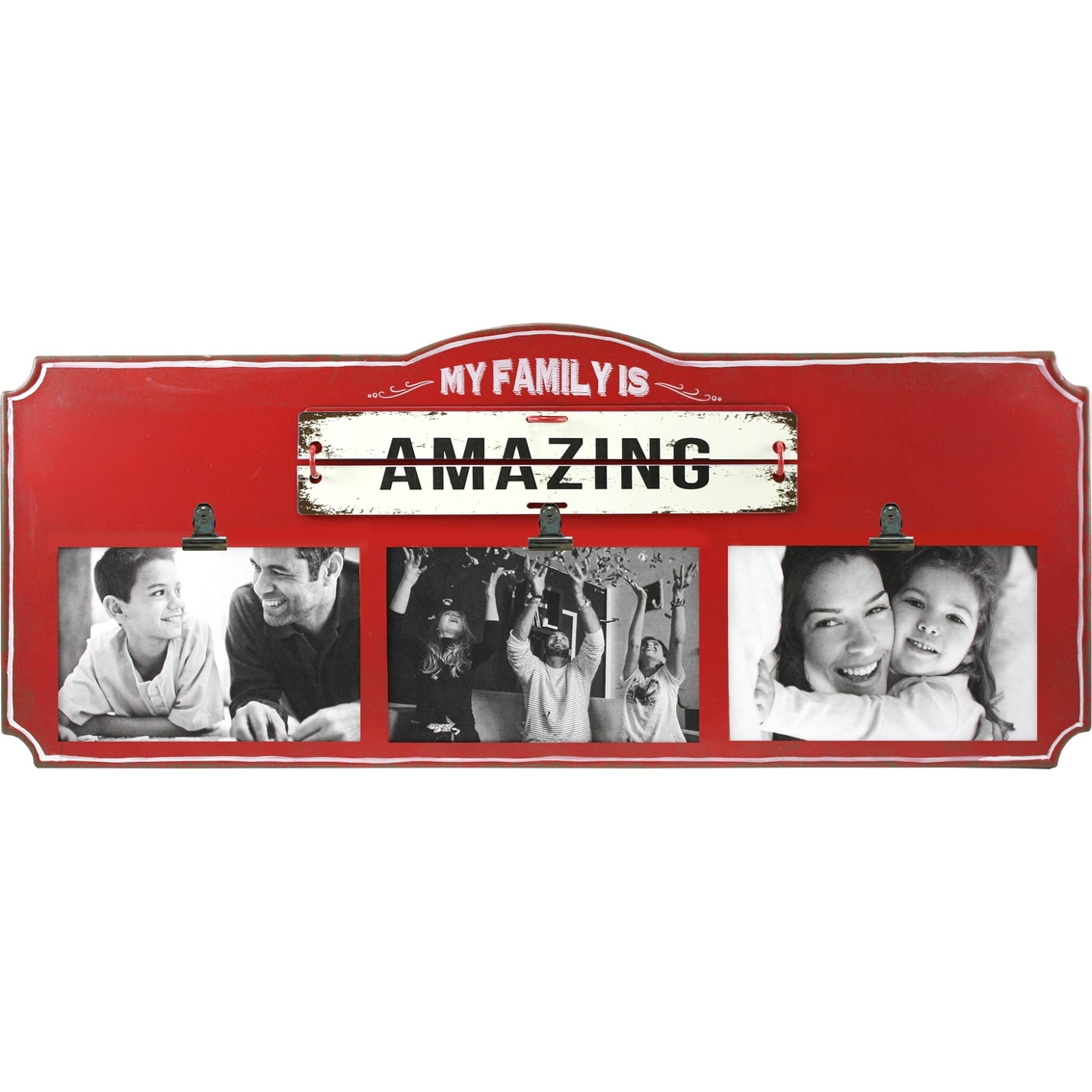 Fetco Home Decor Jargon My Family Is Amazing 20 X 8 Photo Frame