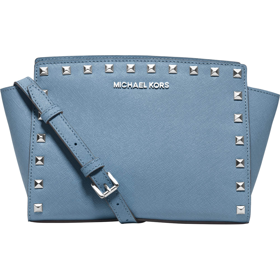Michael Kors Selma Studded Leather Medium Messenger
