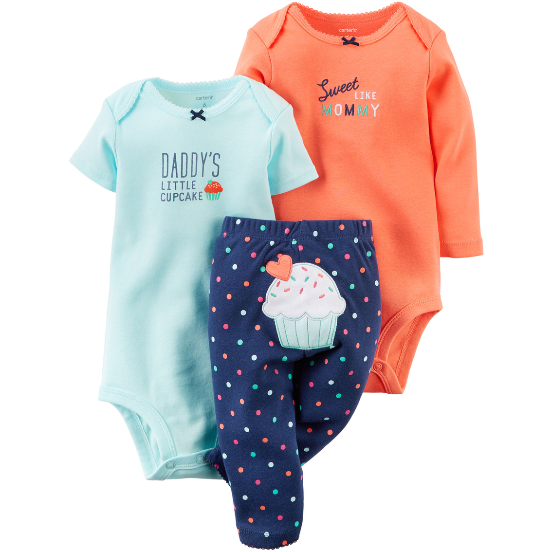 Carter S Infant Girls Multi Cupcake Turn Me Around Bodysuits And