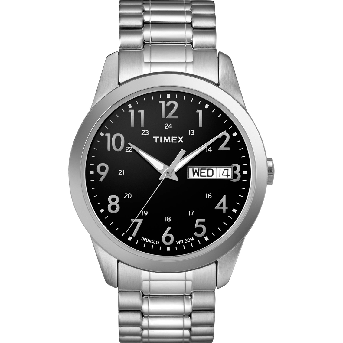 timex men s elevated classic expansion band watch t2m932 men s watches  stainless steel band · 4914