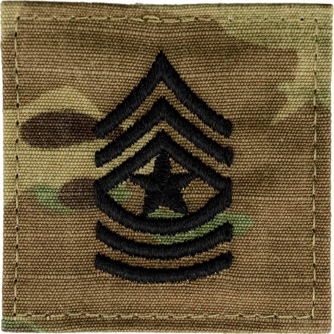 Army (Multicam) Sew On Rank SGM (E9) - Patriot Surplus