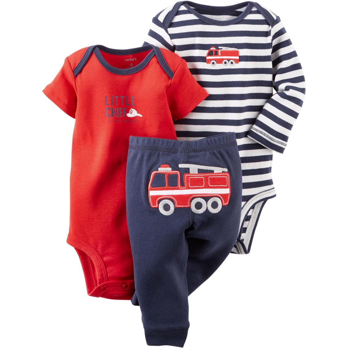 2125dc56 Carter's Preemie Boys 3 Pc. Firetruck Bodysuit And Pants Set | Baby ...