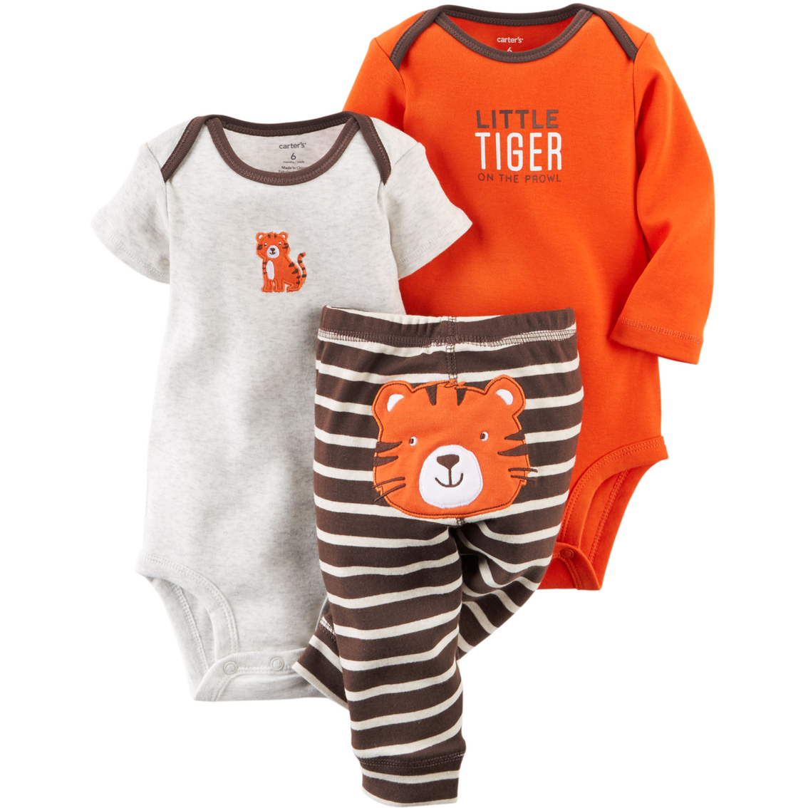 41b7aa70d Carter s Infant Boys Turn Me Around Tiger Bodysuit And Pants 3 Pc ...