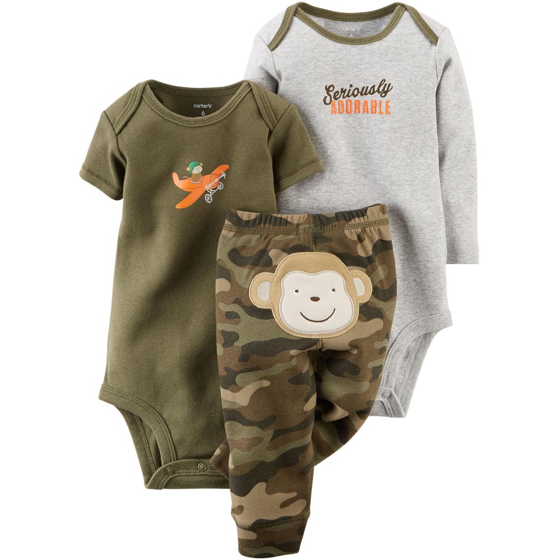 Carter S Infant Boys Turn Me Around Camo Husky Bodysuit And Pants 3