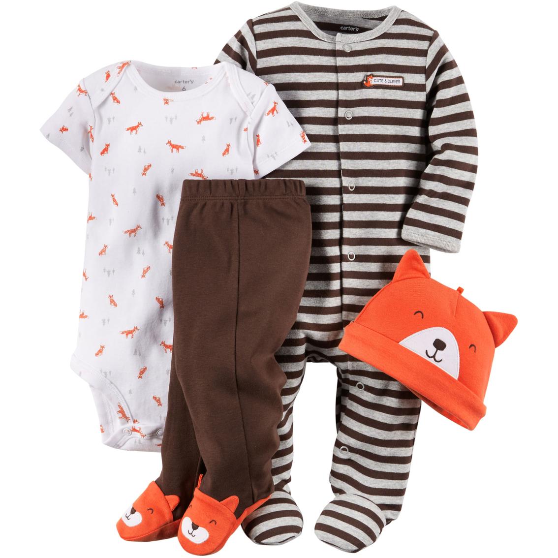 fa2ccf3b8 Carter s Infant Boys Fox Layette 4 Pc. Set