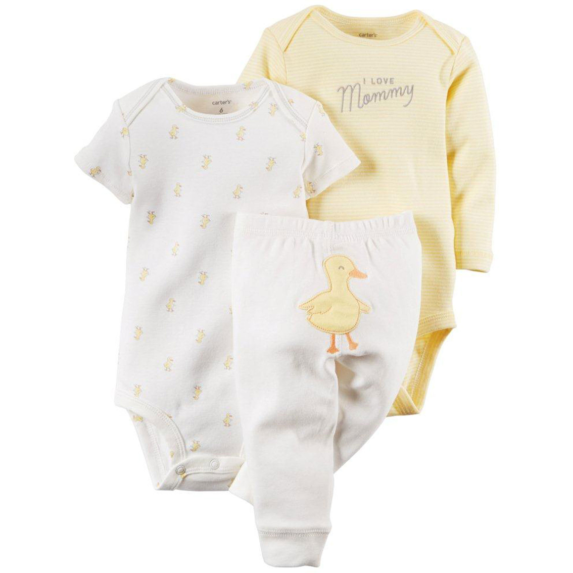 10605cd07 Carter s Infants Duck Turn-me-around Bodysuit And Pants 3 Pc. Set ...