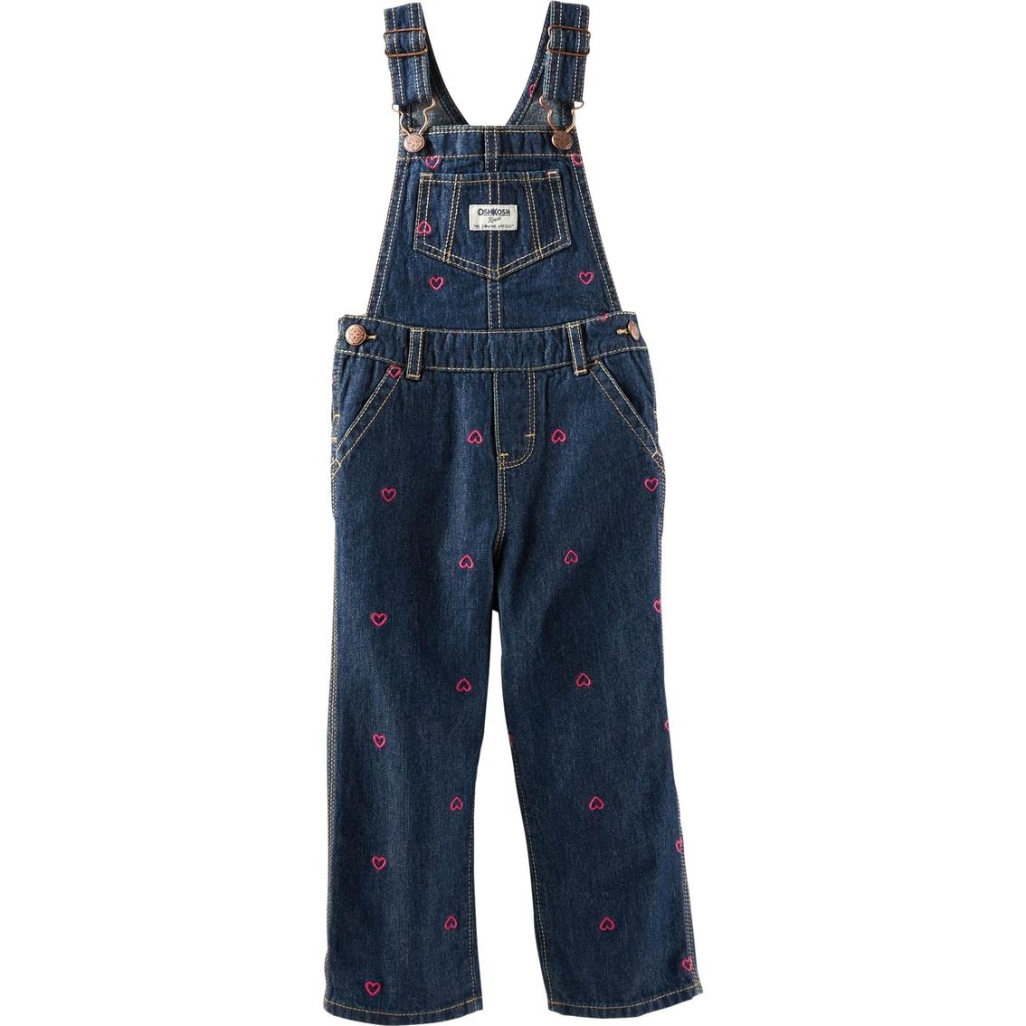 Oshkosh B\'gosh Infant Girls Schiffli Denim Overalls | Baby Girl 0-24 ...