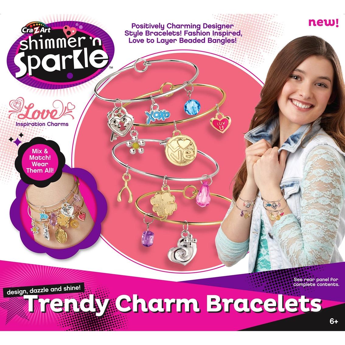 Cra-Z-Art Shimmer and Sparkle Trendy Charm Bracelets Kit