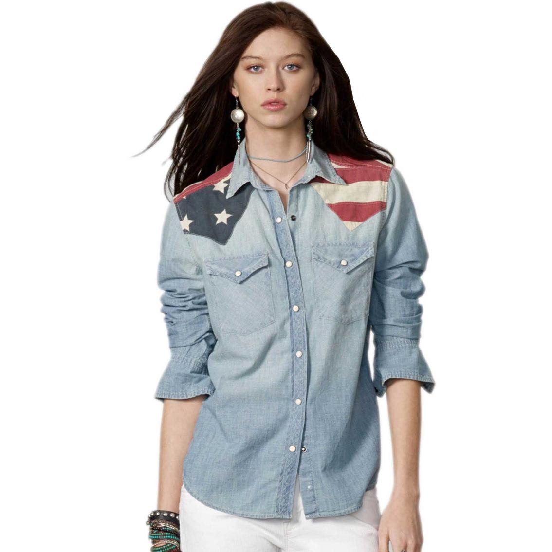 Womens American Flag Shirt