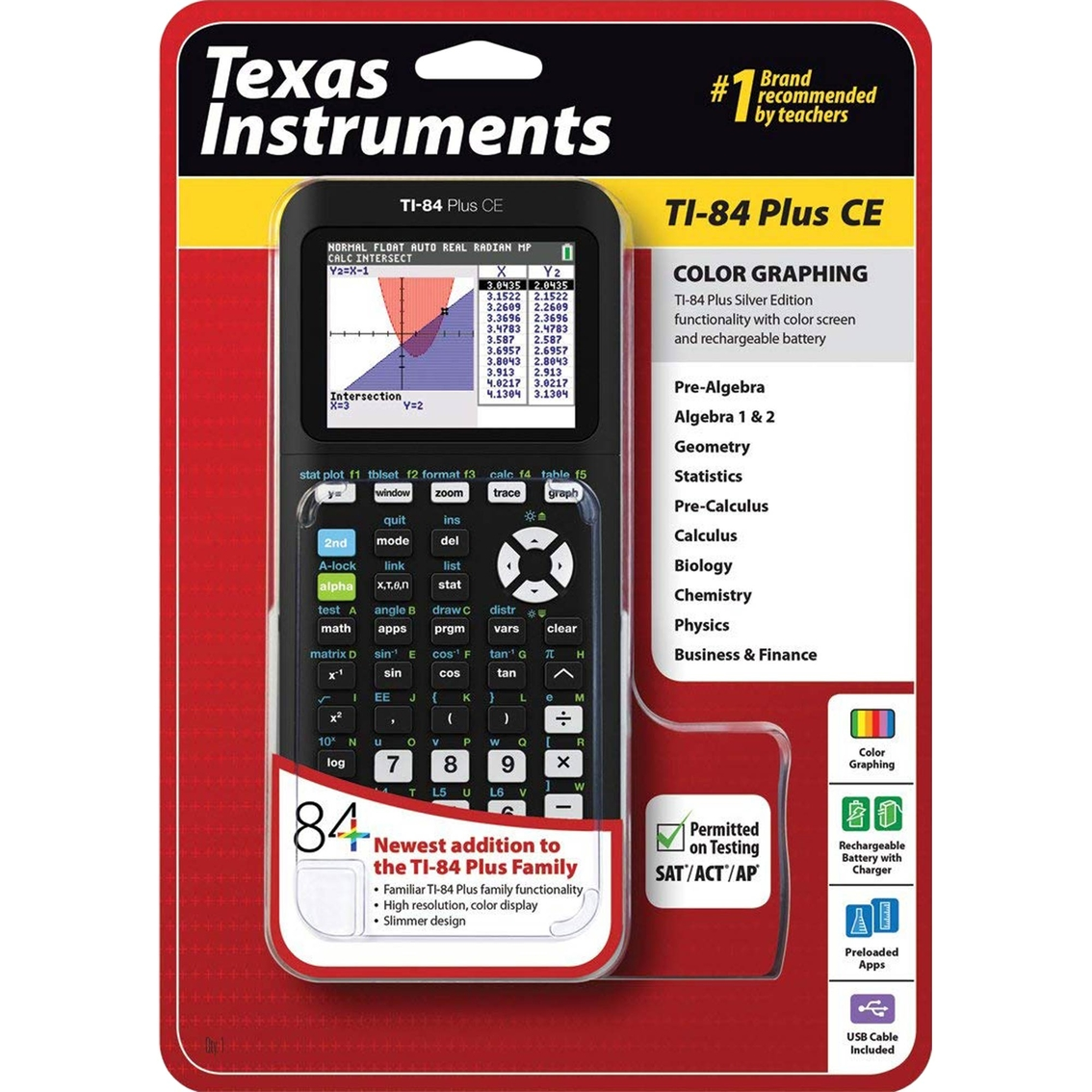 Texas Instruments Ti-84 Plus Ce Graphing Calculator | Tools