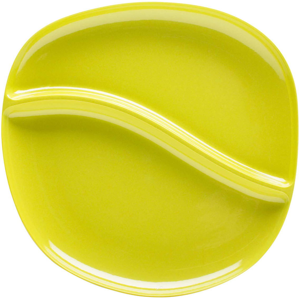 zak designs 10 in bamboo divided dinner plate plates home appliances shop the exchange. Black Bedroom Furniture Sets. Home Design Ideas
