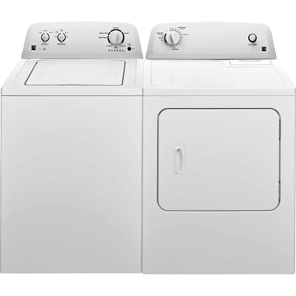 Kenmore 3 3 Cu Ft Top Load Washer 6 5 Cu Ft Electric