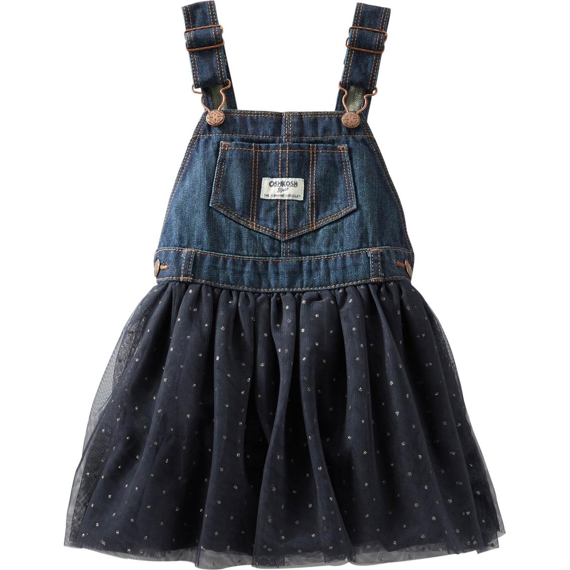 5433dc65ea Oshkosh B gosh Toddler Girls Denim And Tulle Tutu Jumperall ...